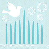 Chanukah Menorah with Dove Royalty Free Stock Photo