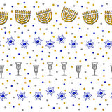 Chanukah Seamless Pattern Royalty Free Stock Photo