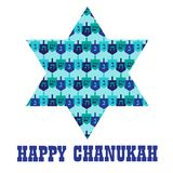 Chanukah star with dreidel pattern. Vector graphic Stock Images