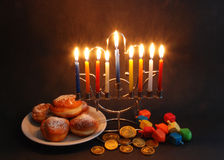 Chanukah symbols Stock Photos