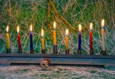 Chanukka, das jüdische Festival von Lichtern lizenzfreies stockfoto