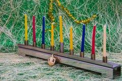 Chanukka, das jüdische Festival von Lichtern stockbild