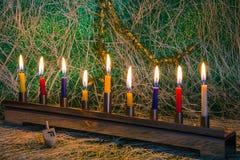Chanukka, das jüdische Festival von Lichtern lizenzfreies stockbild