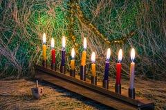 Chanukka, das jüdische Festival von Lichtern stockbilder