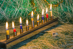 Chanukka, das jüdische Festival von Lichtern stockfoto
