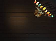 Chanukka-menorah 3D übertragen Lizenzfreies Stockbild