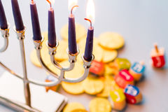 Chanukkah royaltyfri foto