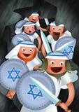 Chanukkah och Maccabeesen Royaltyfri Bild