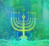 Chanukkahhälsningkort Fotografering för Bildbyråer