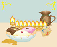 Chanukkahstilleben Royaltyfri Bild