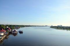 Chao Река Phraya на Nonthaburi Таиланде стоковые фото