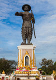 Chao Anouvong statua w Vientiane, Lao PDR Obrazy Stock