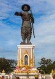 Chao Anouvong Statue en Vientián, Lao PDR Imagenes de archivo