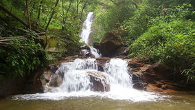 Chao Doi Waterfall, Tak Province, Thailand stock footage