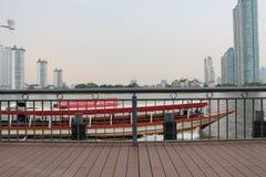 Chao Phraya河 图库摄影