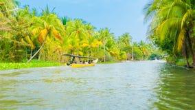 Motor boat on the Chao Phraya River Bangkok Royalty Free Stock Images