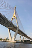 Chao Phraya Bridge Bangkok Thailand Stock Afbeeldingen