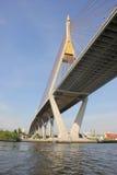 Chao Phraya Bridge Bangkok Thailand Fotografie Stock Libere da Diritti
