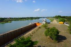 Chao Phraya Dam Royalty-vrije Stock Afbeeldingen
