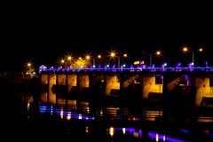 Chao Phraya Dam Chai Nat royaltyfri bild