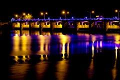 Chao Phraya Dam Chai Nat royaltyfri fotografi