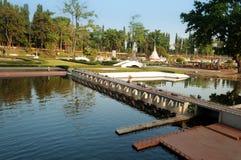 Chao Phraya Dam in Mini Siam Park Royalty Free Stock Photos