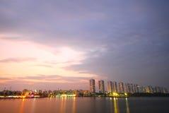 Chao phraya der Fluss Lizenzfreie Stockfotos