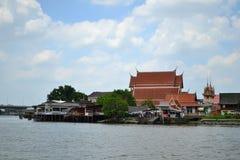 Chao Phraya flod Royaltyfria Foton