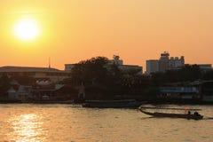 Chao Phraya flod Arkivbild