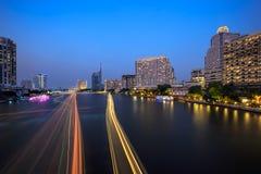 Chao Phraya flod Fotografering för Bildbyråer