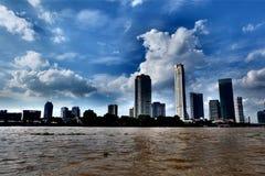 Chao Phraya flod Royaltyfria Bilder