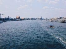 Chao Phraya flod Arkivfoto