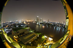 Chao phraya Fluss in Bangkok Lizenzfreie Stockfotos
