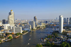 Chao phraya river. City scape Stock Images