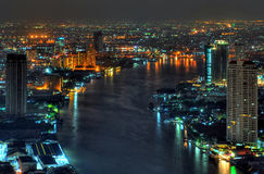 Chao phraya river in bangkok Royalty Free Stock Image
