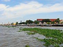 Chao Phraya River in Bangkok city. Thailand. Stock Photos