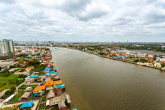 Chao Phraya river Bangkok cityscape Thailand Stock Photo