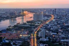 Chao Phraya river in Bangkok Royalty Free Stock Photography