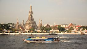 Chao Phraya River Bangkok. Bangkok, Thailand - April, 2014: navigation on the Chao Phraya river in Bangkok, Thailand on April, 2014. Bangkok is among the world`s stock footage