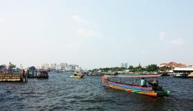 Chao Phraya river, Bangkok, Thailand Royalty Free Stock Photos