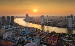 Chao Phraya River bangkok ,thailand. A view of the Chao Phraya River in the city of Bangkok royalty free stock images