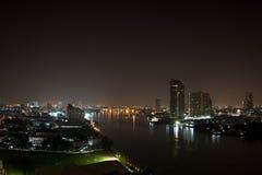 Chao Phraya river in Bangkok Stock Image