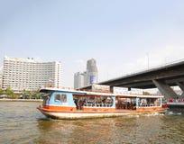 Chao Phraya River Boat arkivbild