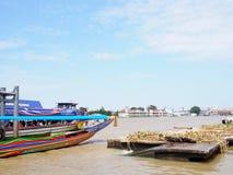CHAO PHRAYA river boat ship goods & person Transportation, BANGKOK, THAILAND. Stock Photo