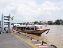 CHAO PHRAYA river boat ship goods & person Transportation, BANGKOK, THAILAND. Stock Photography