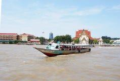 CHAO PHRAYA river boat ship goods & person Transportation, BANGKOK, THAILAND. Royalty Free Stock Image