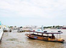 CHAO PHRAYA river boats Transportation, BANGKOK, THAILAND. Royalty Free Stock Images