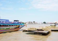 CHAO PHRAYA river boats Transportation, BANGKOK, THAILAND. Royalty Free Stock Image