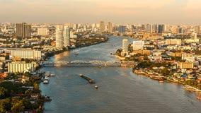 Chao Phraya River. Chao Phraya River beautiful twilight Stock Images