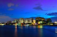 Chao Phraya River And The City. Of Light Stock Photos